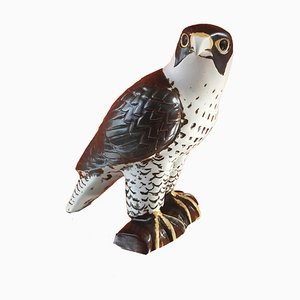 Stoneware Peregrine Falcon by Lisa Larson for WWF NK