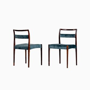 Rosewood Dining Chairs by Kai Kristiansen for Oddensen Maskinsnedkeri, Denmark, 1960s, Set of 6