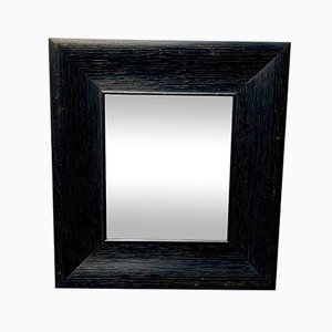 Vintage Wall Mirror with Black Wooden Frame