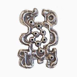 Abstract Cast Aluminum Hanukkiah Menorah by Donald Drumm