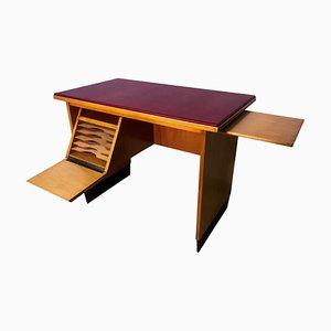 Mid-Century Italian Desk with Retractable Shelf from Antonio Gorgone, 1961
