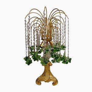 Tischlampe aus Muranoglas & vergoldeter Bronze in Wasserfall-Optik, 1970er