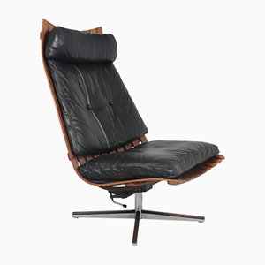 Scandia Senior Lounge Chair by Hans Brattrud for Hove Møbler, 1950s