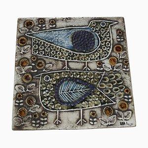 Vintage Swedish Ceramic Tile by Lisa Larson for Gustavsberg, 1976