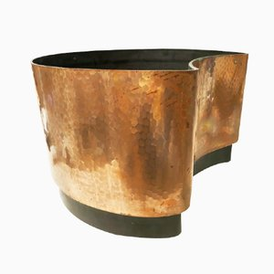 Large Copper & ABS Moon Planter by Anna Mazzucchelli for Vastill By Reflex, 1970s