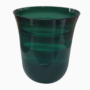 Green Vase with Wave Optics by Erich Jachmann for WMF, 1960s