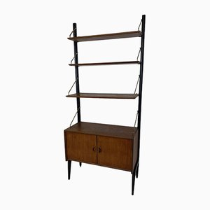 Scandinavian Style Teak Free Standing Shelf by Louis van Teeffelen for WéBé, 1950s