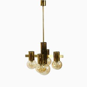 Lampada da soffitto in ottone di Hans-Agne Jakobsson, anni '60