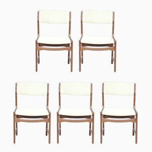 Belgian Rosewood Dining Chairs from De Coene, 1970s, Set of 5