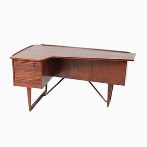 Mid-Century Modern Rosewood Boomerang Desk by Peter Løvig Nielsen for Hedensted Møbelfabrik, 1950s