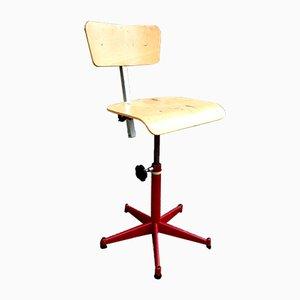 Industrial Plywood Workshop Swivel Chair, 1970s