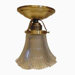 Art Deco Brass Ceiling Lamp, 1910s