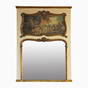 Large Antique 19th Century Gilt Full Height Mirror