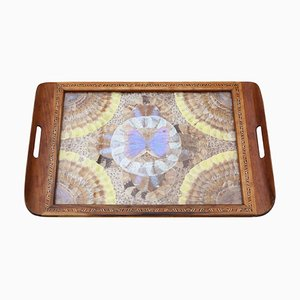 Antique Butterfly Serving Tray, 1920s