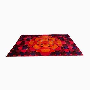 Großer Abstrakter Deutscher Miami Teppich von Besmer, 1960er