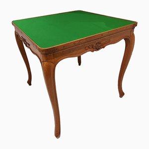 Mesa de juegos antigua de nogal, década de 1800