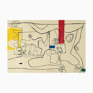 Le Corbusier, Cortège Planche 3, Lithograph printed by Mourlot Paris, 1970s