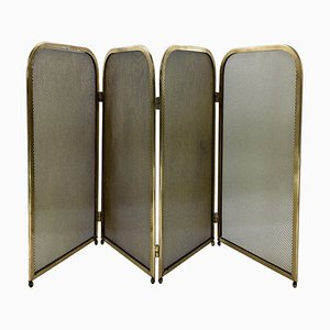 Heavy and Solid Brass Fireplace Screen, 1960s