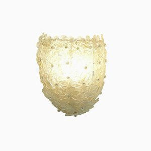 Mid-Century Murano Flower Wall Sconce from Barovier & Toso, Italy