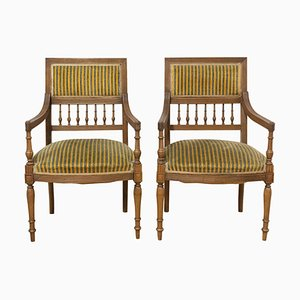 French Louis XVI Revival Armchairs, Early 20th Century, Set of 2