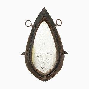 French Donkey Yoke Mirror, Late 19th Century