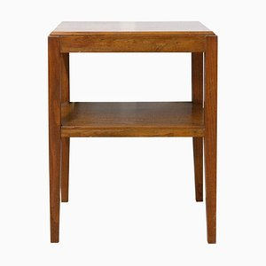French Beech Console Table, 1950s