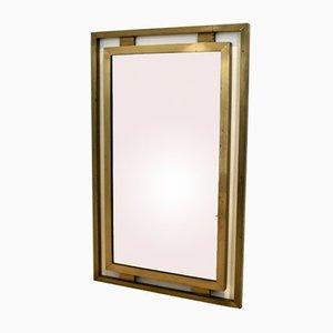 Specchio in ottone di Guy Lefevre per Maison Jansen, anni '70