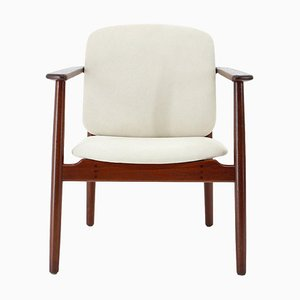 Model 165 Teak Armchair by Børge Mogensen for Søborg Furniture, 1960s