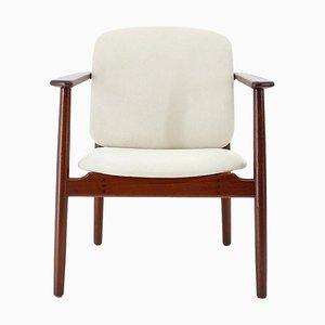 Modell 165 Teak Armlehnstuhl von Børge Mogensen für Søborg Furniture, 1960er