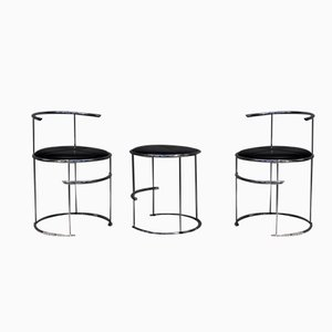 Chromed Stools by Jan van Opzeeland, 1985, Set of 3