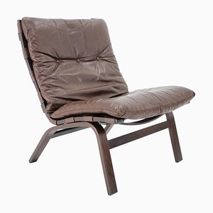 Leather Lounge Chair from Farstrup, Denmark, 1970s