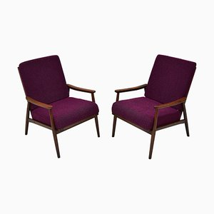 Mid-Century Armchairs from TON, Czechoslovakia, 1960s, Set of 2