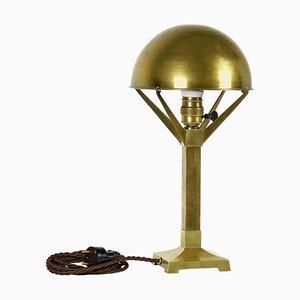 Cubist Brass Lamp, 1910s