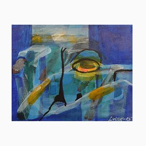 Ivy Lysdal, Acrylic on Canvas, Abstract Modernist Painting, 2005