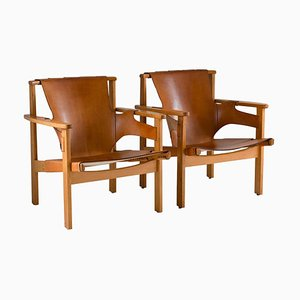 Scandinavian Mid-Century Trienna Easy Chairs by Carl-Axel Acking for NK, Set of 2