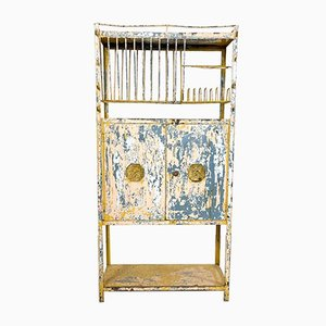 Vintage Industrial Metal Outdoor Kitchen Cabinet