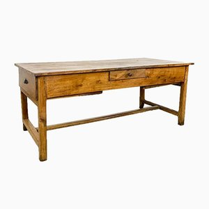 French Antique Cherry Wooden Kitchen Farmhouse Table