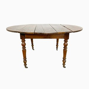 French Antique Drop Leaf Table