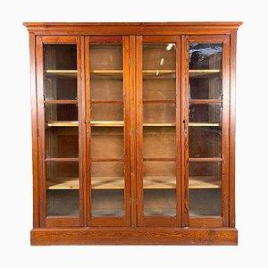 Vintage Industrial 4-Door Display Cabinet