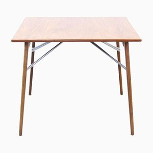 Drop Leaf Table in Teak and Oak by Borge Mogensen for Soborg Mobler