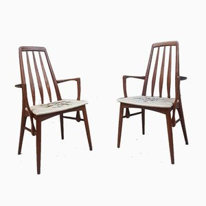 Mid-Century Danish Dining Chairs by Niels Koefoed for Koefoeds Hornslet, Set of 2