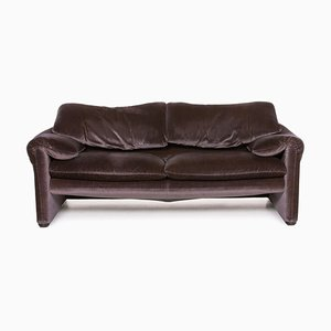 Maralunga Purple Aubergine Sofa from Cassina