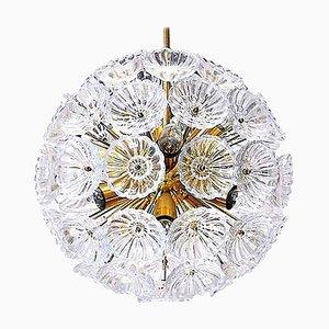 Starburst Sputnik Glass Flower Chandelier, 1960s, Germany