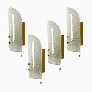Hand Blown Murano Wall Light Fixture by J. T. Kalmar