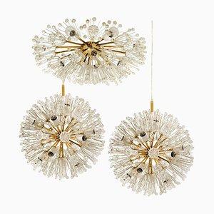 Luminaires Snowball Orbit Sputnik par Emil Stejnar, Autriche, Set de 3