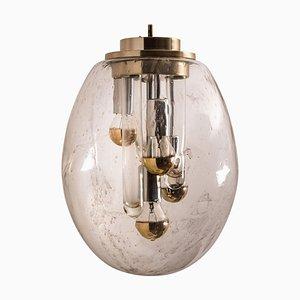 Space Age Sputnik Pendant Lamp from Doria, Germany, 1970s