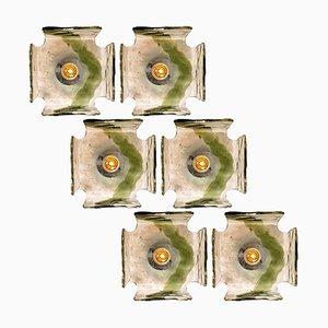 Mundgeblasene Deckenlampe von JT Kalmar, 1960er