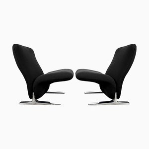 Dutch Kvadrat Upholstery Lounge Chairs by Pierre Paulin for Artifort, Set of 2