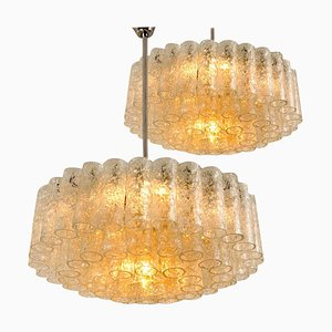 Chandeliers with Glass Tubes from Doria, 1960s, Set of 2