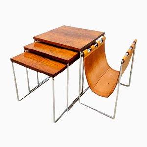 Vintage Dutch Mimiset Nesting Tables from Brabantia, Set of 3